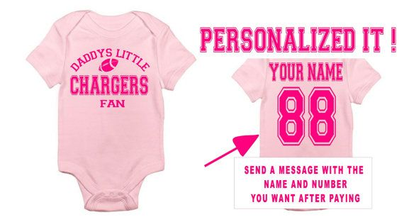 Pink Daddys Mommy Chargers Baby Jersey Customized Personalized Infant Shirt San Go Gear Onesie Bodysuit Clothes