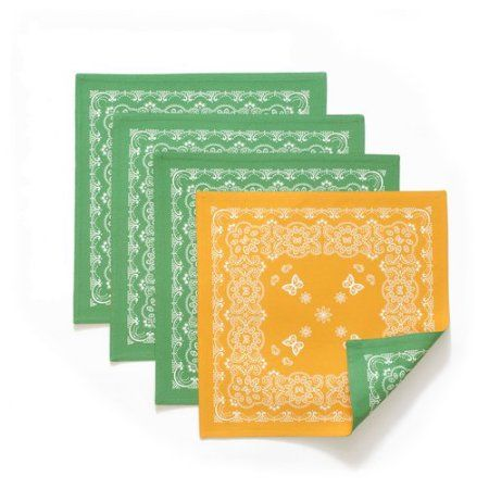 Putting a fun twist on the classic icon, the Pioneer Woman Bandana Reversible Placemat adds a fun touch to your frontier table. Measuring 15 inches squared, the Pioneer Woman Bandana Reversible Placemat is 100 percent cotton and machine washable for repeated use. Available at Walmart.com.