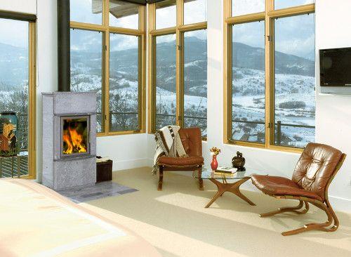 small masonry heater windows in living room tulikivi corporation
