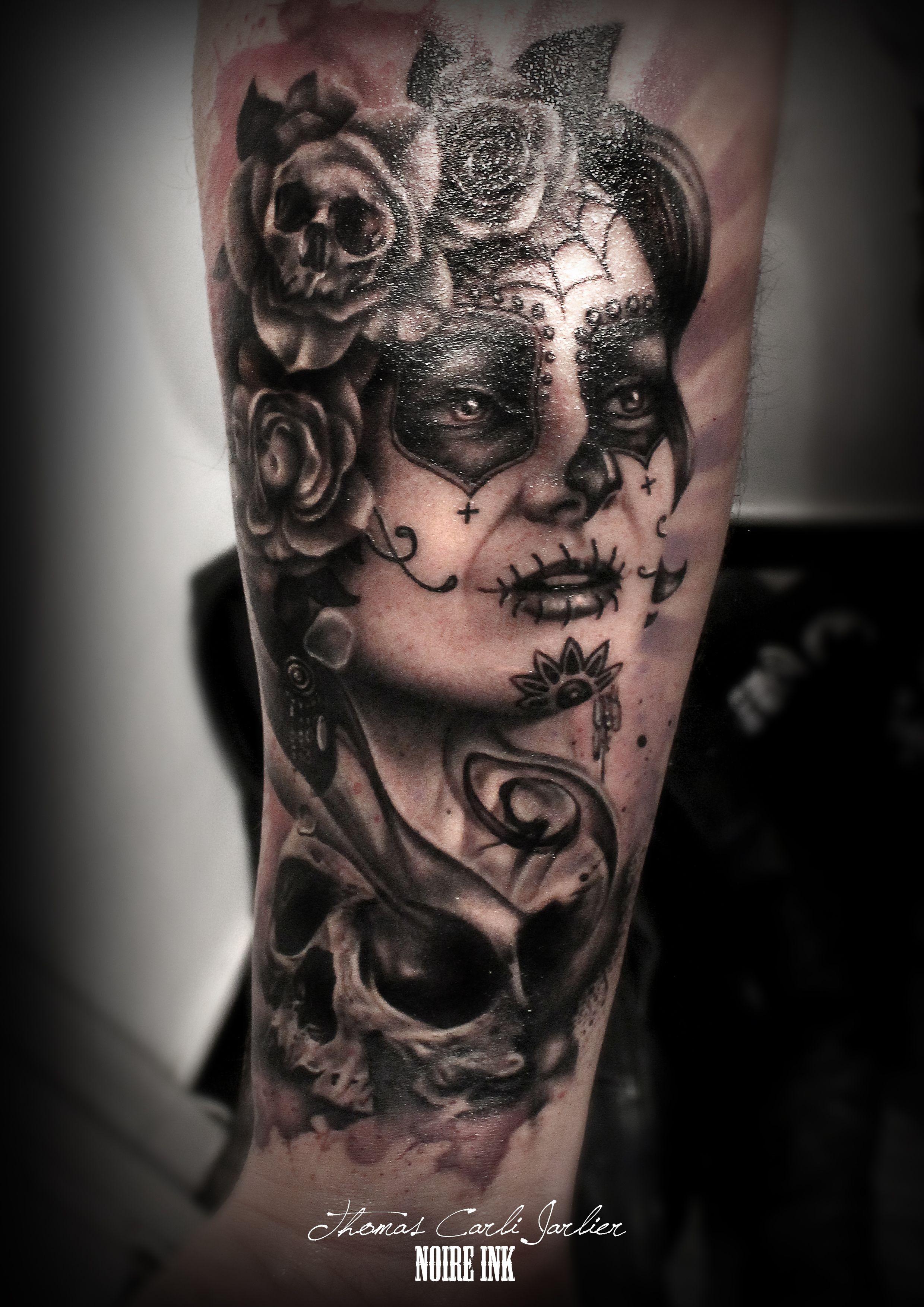 Afficher l 39 image d 39 origine tattoo catrina pinterest - Tatouage gitane signification ...