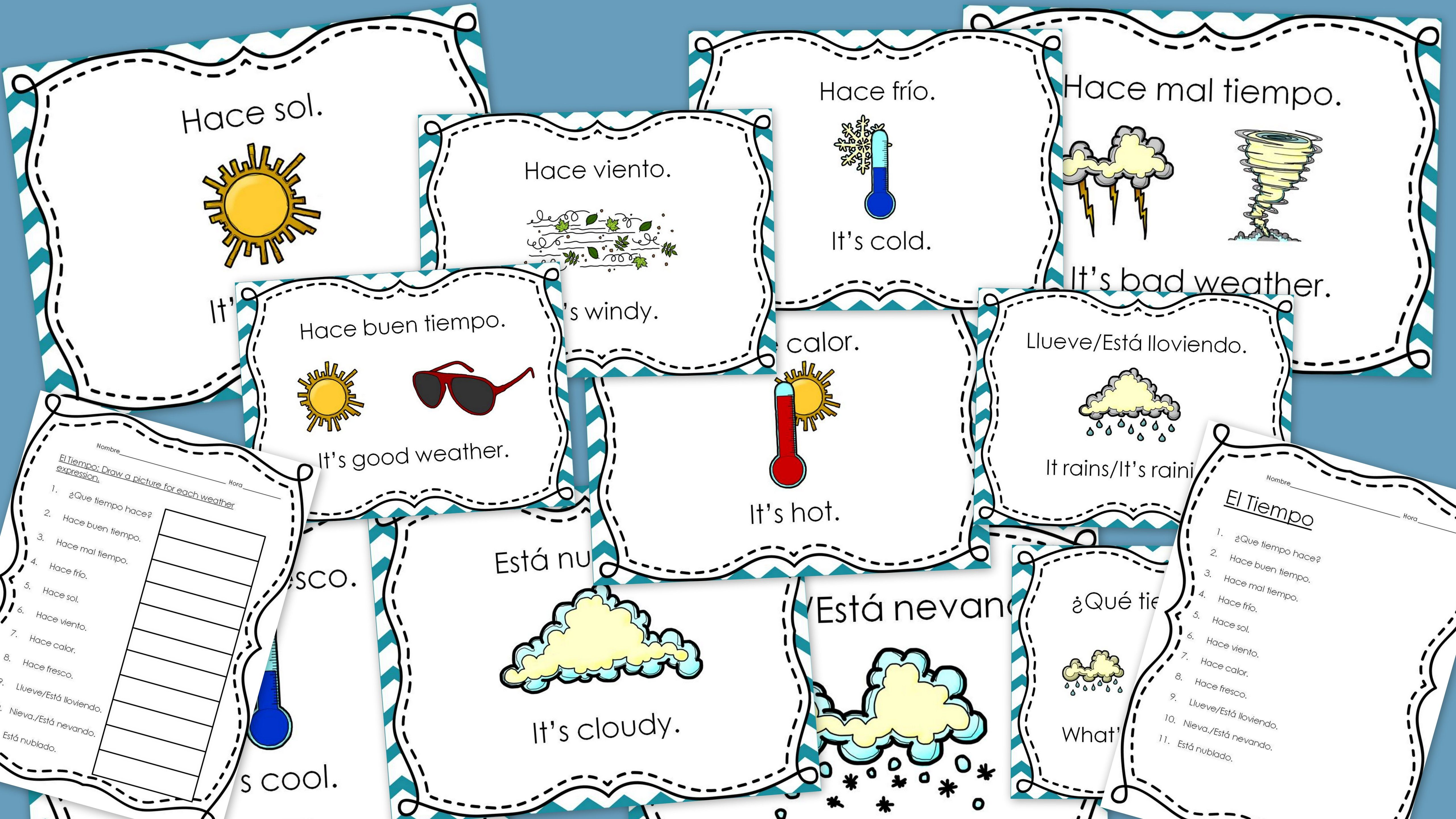 Spanish Weather Powerpoint Lesson Word Wall And Vocabulary