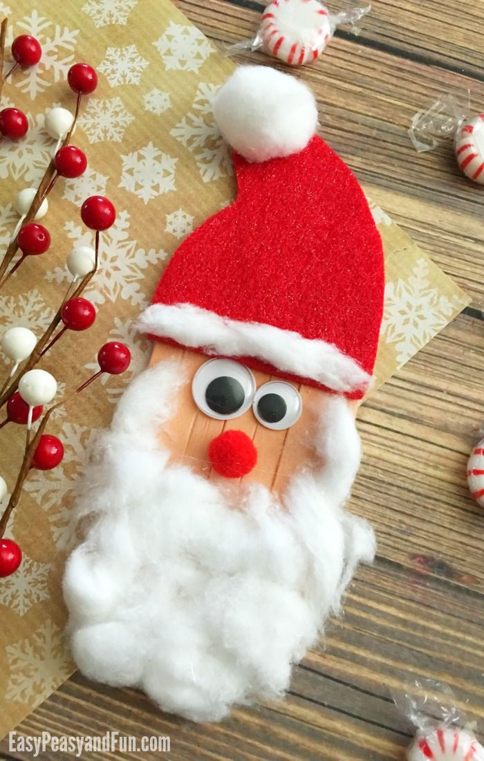 Craft Sticks Santa Craft for Kids to Make