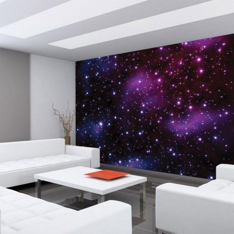 Vlies fototapete no 499 sternenhimmel tapete galaxy for Tapeten in lila
