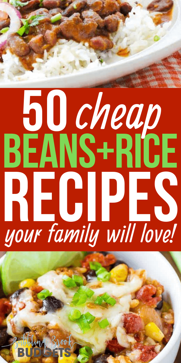budget foods rice and beans diet