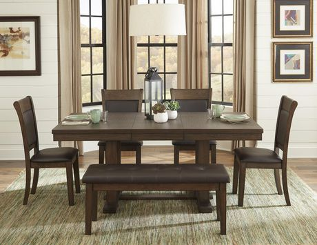 Topline Home Furnishings 6pc Dark Brown