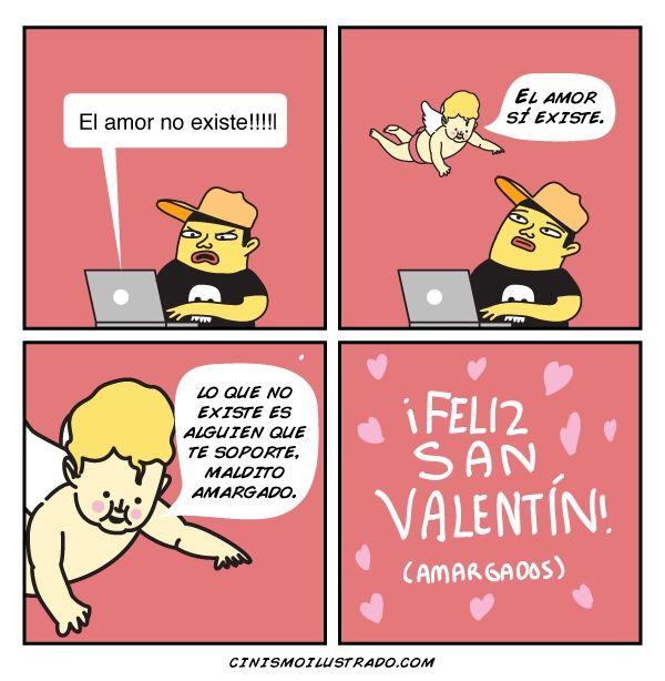 Feliz San Valentín, amargados.