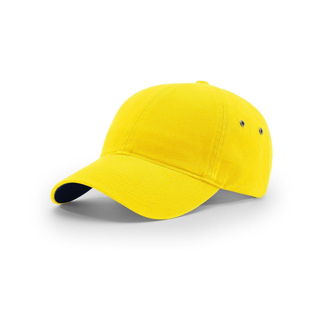 1e5db6b1190fb Richardson Yellow Lifestyle Unstructured Washed Chino Polo Cap ...