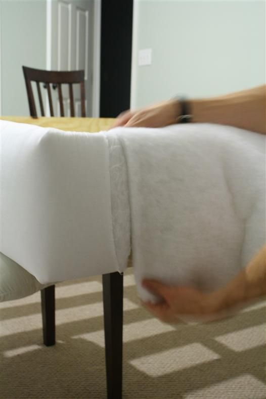 how to upholster the short side of a queen bed