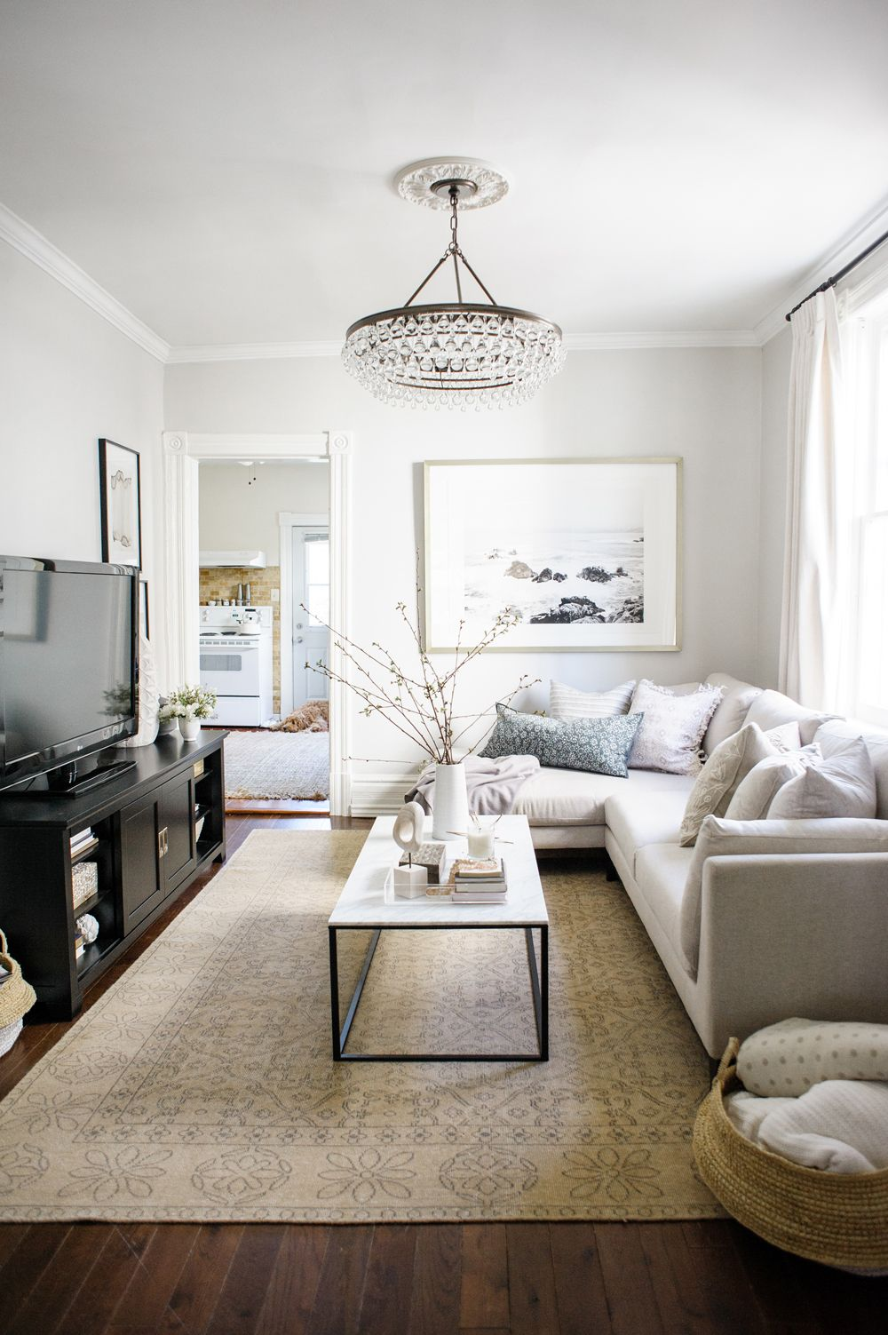 This neutral living room is the definition of stylish and serene ...