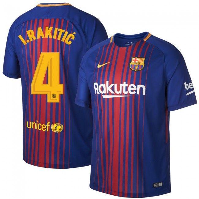 95ea01ebab Camiseta del Barcelona 2017-2018 Local + I. Rakitic 4 (Dorsal Oficial)