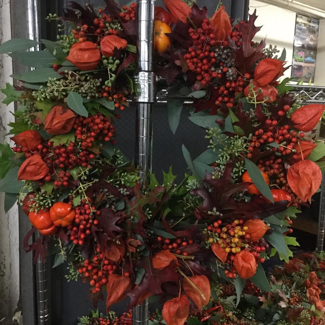 """Some great looking wreaths are available. #autumn #wreath#designer #eventplanner #ideasworthspreading #sfbrannanstwholesale #flowerworld"""