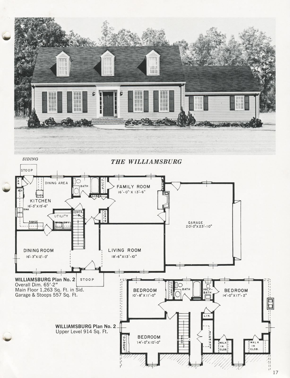 United States C 1970 The Williamsburg A House Based On Those Of Colonial Williamsburg Each Floor Contains Dream House Plans House Plans Cottage House Plans