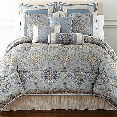 jcp | Victoria Falls 7-pc. Jacquard Comforter Set & Accessories ...