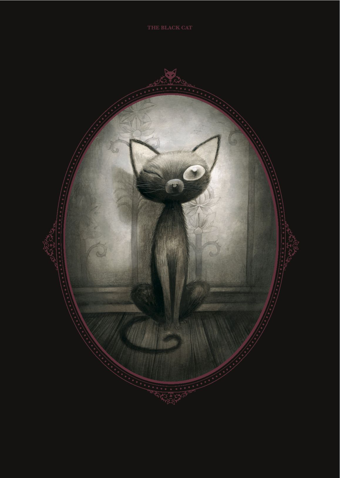 kinda silly jet eating people black cat art poes the black cat an illustration by benjamin lacombe of pluto from edgar allan poe s the black cat