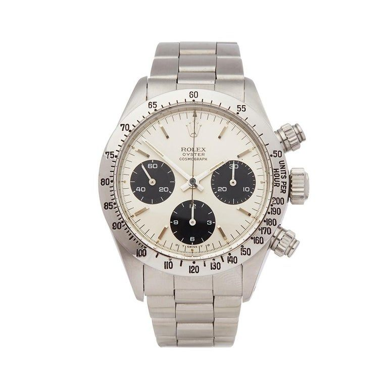 Vintage Rolex Daytona Stainless Steel 6265 Wristwatch #stainlesssteelrolex