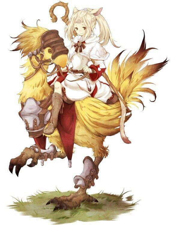 White Mage On A Chocobo Final Fantasy Artwork Final Fantasy Xiv Final Fantasy
