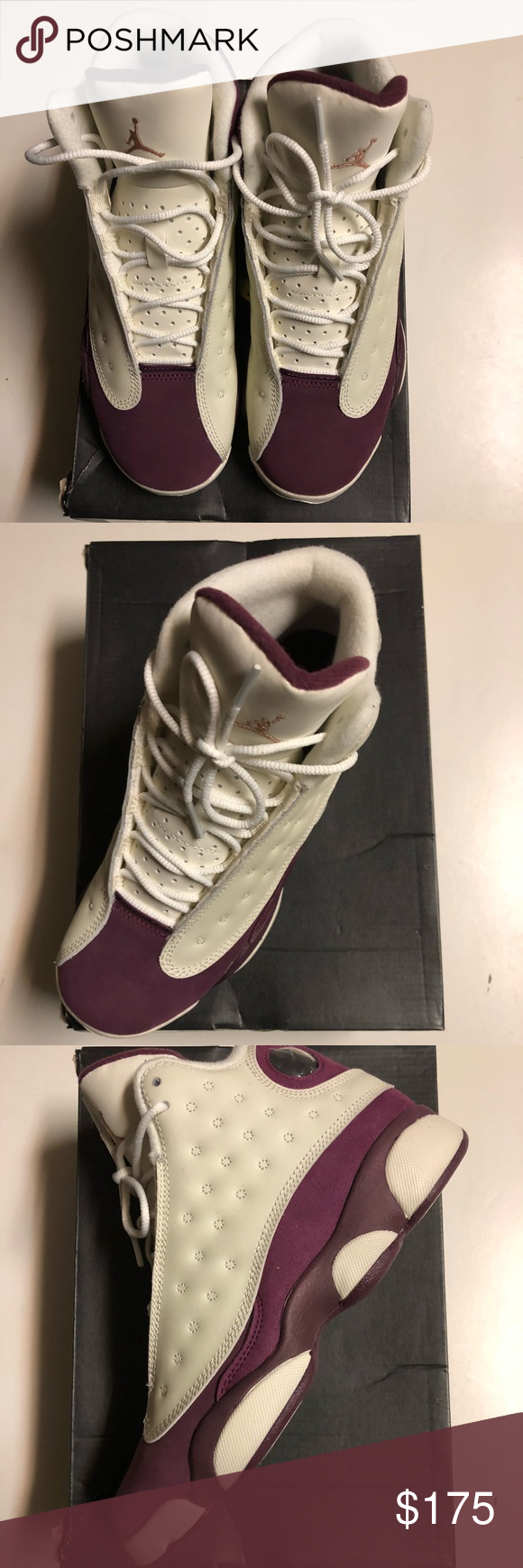 17ca8935d917 Kids Sneaker. Kids Sneaker Brand New SAIL MTLC RED BRONZE-BORDEAUX AIR  JORDAN RETRO 13 GG ...