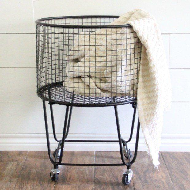 metal rolling storage basket