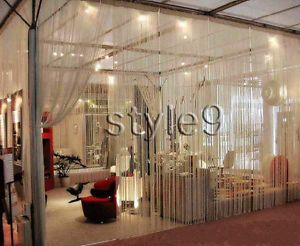 details about string curtain with beads fringe panel room divider