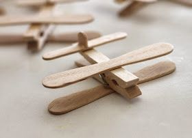 Clothespin Airplane Party Favors