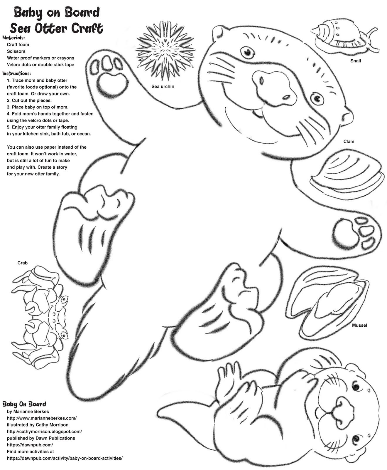 sea otters coloring sheets  yahoo image search results