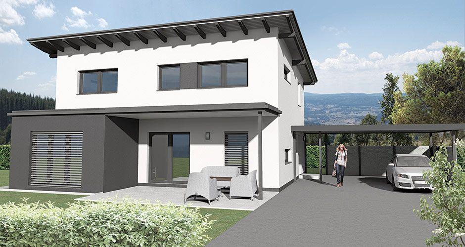 Pult 148 das 148 m2 malli haus mit pultdach haus bauen for Minimalistisches haus grundriss