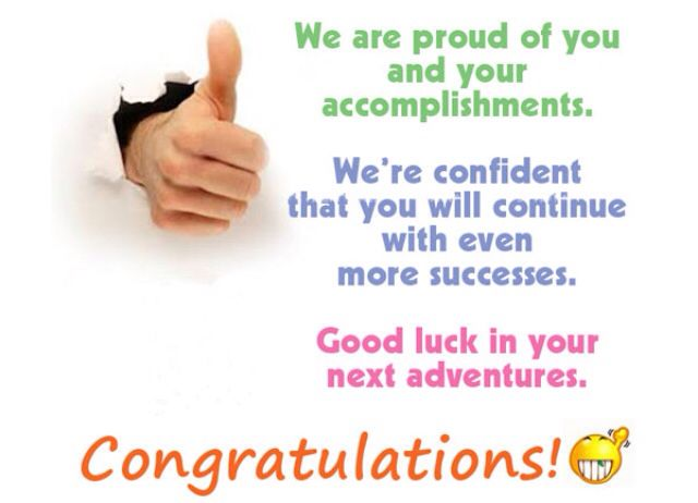 Congrats Happy Birthday!!!!!and Special Celebrations - congratulations letter