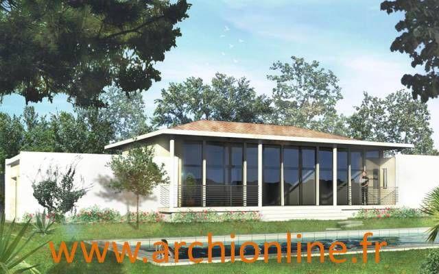 Plan De Maison Contemporaine Trouvable Sur Le Catalogue De Plans De Maisons  Sur Www.archionline.fr ! #maisoncontemporaine