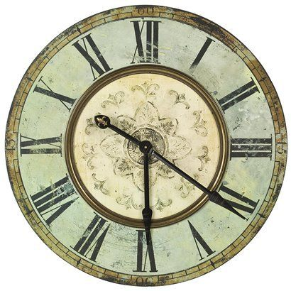 Oversized Wooden Wall Clock Antique Blue Oversized Wall Clock Wall Clock Clock