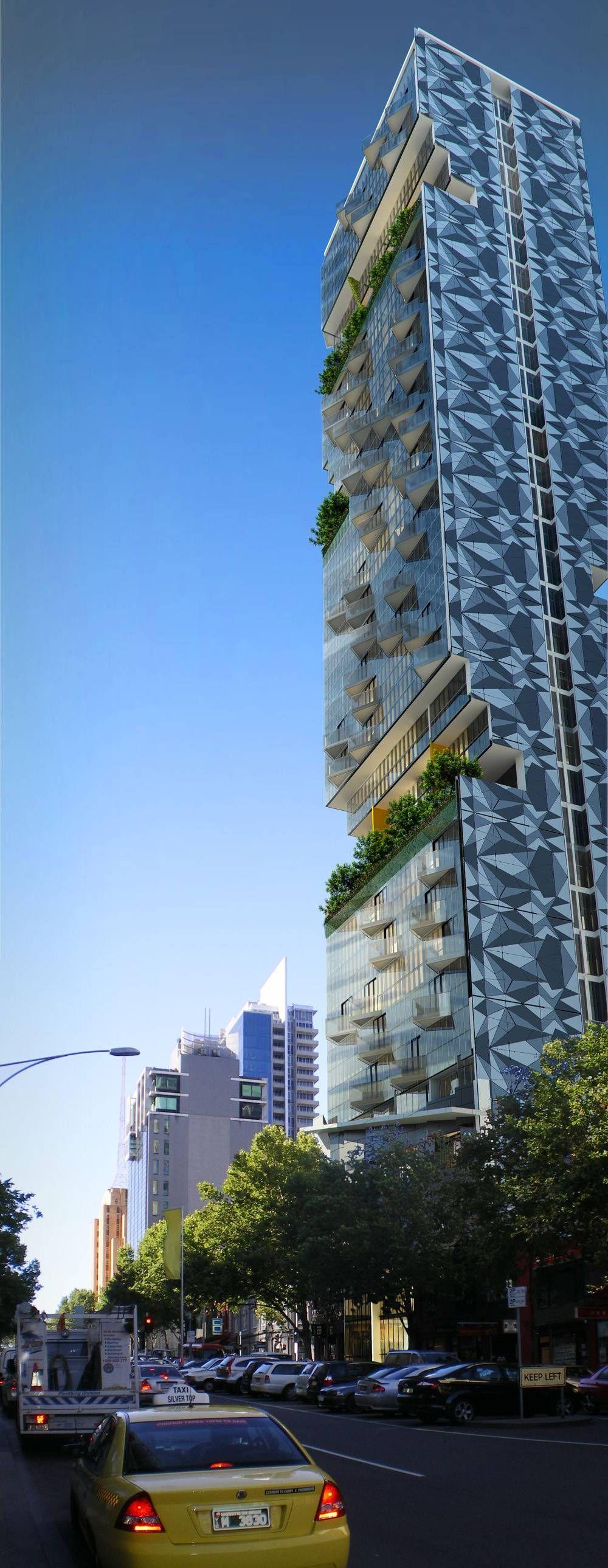 U0027vertical Neighbourhoodu0027 Crystal Gardens, Melbourne, Australia I Designed  By Australian International Architecture Firm CK Designworks High Rise With  Plants ...