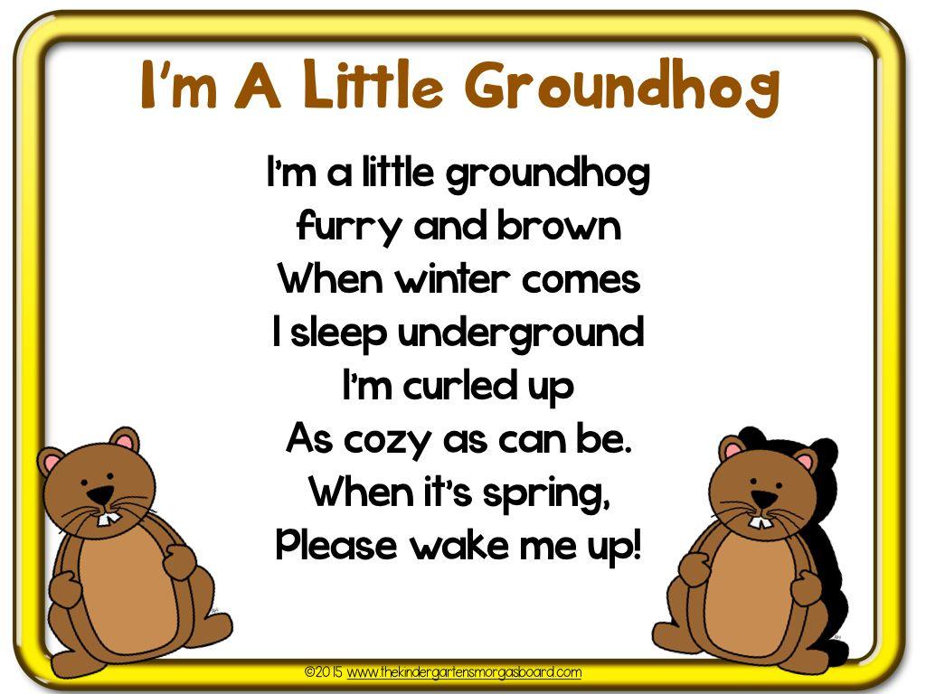 A Kindergarten Smorgasboard Schedulin Sunday | Groundhog day, Poem ...
