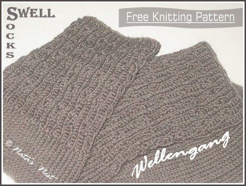 Natas Nest: Swell Socks - Free Pattern / Wellengang-Socken - G ...