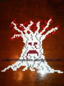 Game of Thrones: Weirwood Tree Perler Bead | Crafter of the Realm