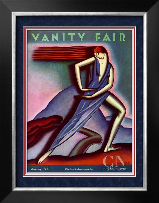 Vanity Fair Cover - January 1929 Poster Print by Symeon Shimin at the Condé Nast Collection
