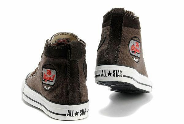 550c6e16b28c Cool Converse Embroidery Brown High Tops Limited Edition Chucks All Star  Canvas Suede Easy Slip  converse  shoes  curvypetitefashion