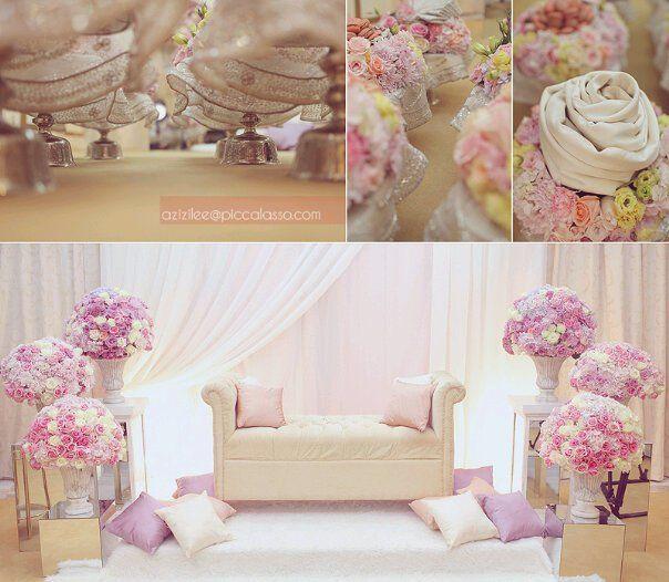 Wedding Nikah Simple Backdrop Decoration Muslim: Simple And Beautiful Pelamin.
