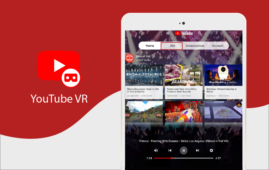 How To Switch From 2d Videos To 360 Videos With Youtube Vr App Best Mobile Apps Youtube Vr Apps
