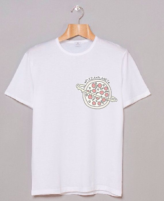 Planet Pizza Graphic White Hipster Teen Tumblr By