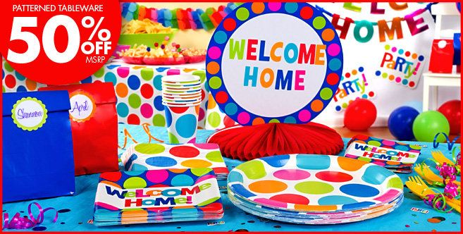 Cabana polka dot welcome home party supplies party city welcome cabana polka dot welcome home party supplies party city teraionfo