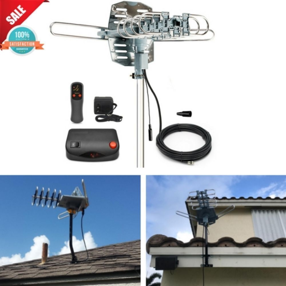 Motorized Digital Tv Antenna Amplified Outdoor Attic 1080p Hdtv 150 Miles Range Installerparts My Ebay Store 2017 Products Outdoor Antenna Digital Tv