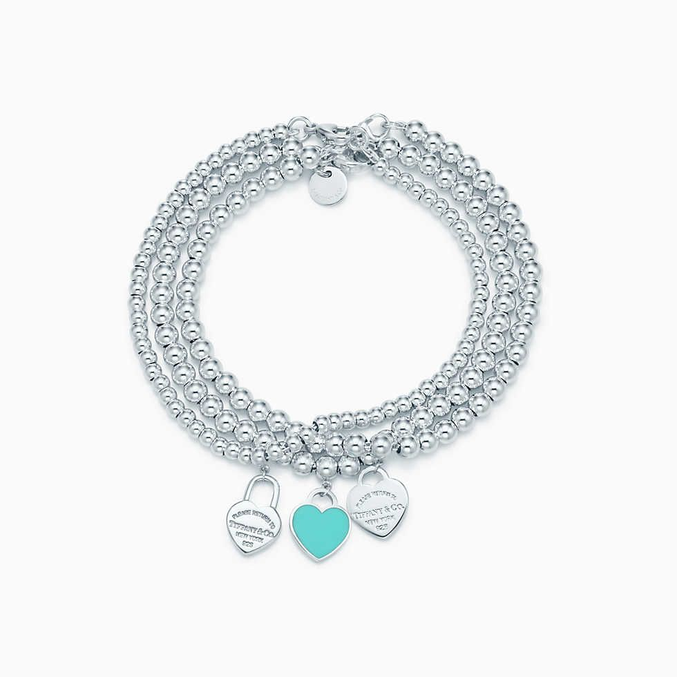 301ec8362 Return to Tiffany® multi–heart tag bracelet in sterling silver, medium.