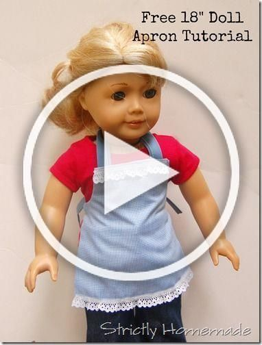 Little Known Ways to Make Doll Clothes Yourselves #bedfalls62 Free 18 Doll Apron Tutorial. Fun and easy. #bedfalls62 Little Known Ways to Make Doll Clothes Yourselves #bedfalls62 Free 18 Doll Apron Tutorial. Fun and easy. #bedfalls62