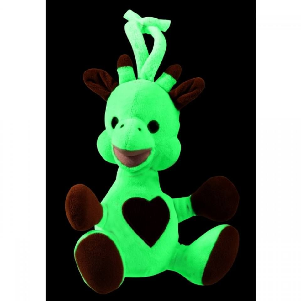 #Glow_In_The_Dark_Sophie   Brand:Vulli  Short description:   A huggable stuffed animal that glows in the dark to comfort baby at bedtime! Thanks to its photo-luminescent material, the stuffed toy charges up in natural or artificial light within a few seconds.  #Hedeya code:2536 #hedeyastores #gifts #toys #Egypt  Price:185
