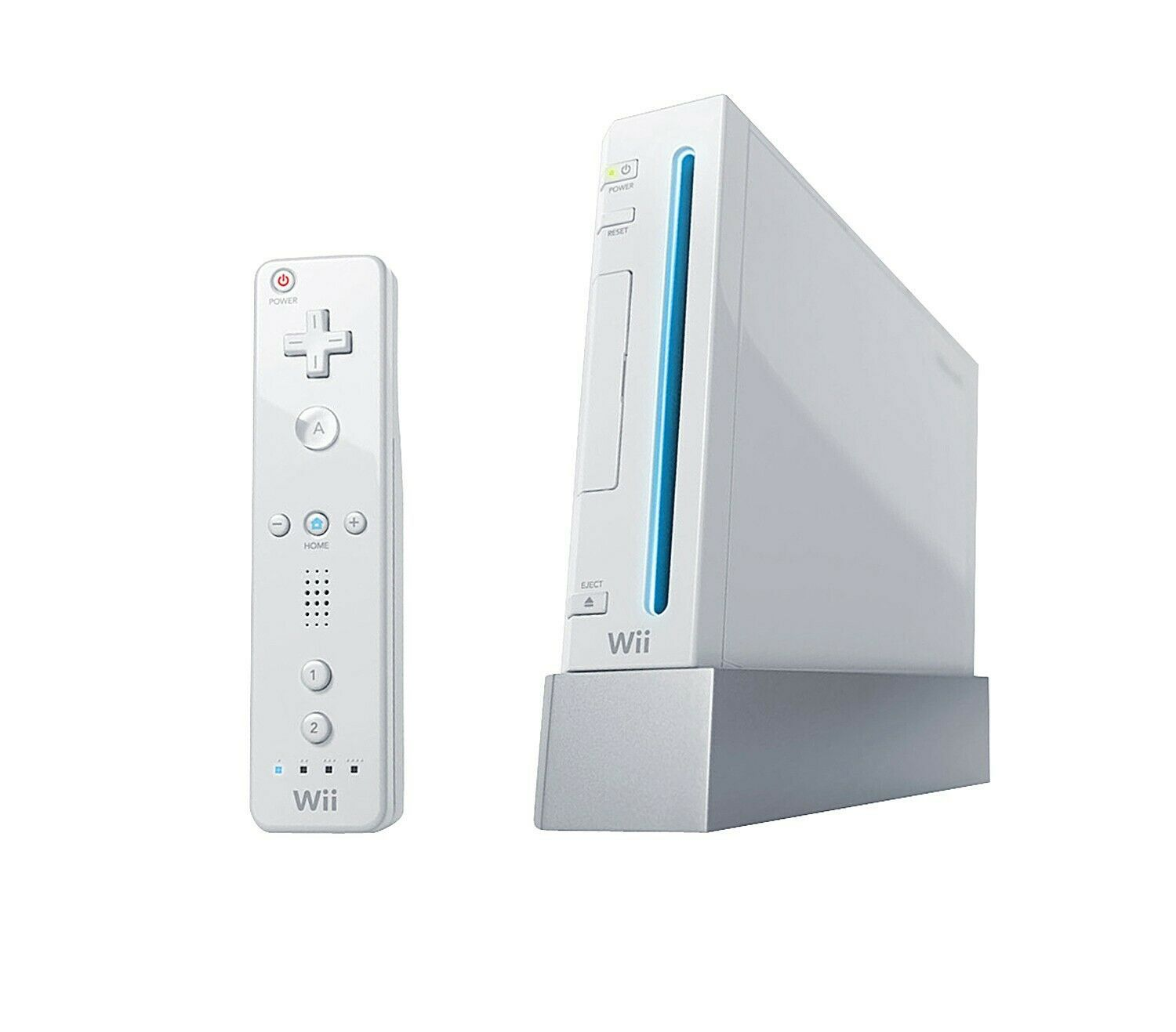 Full set of Nintendo Wii White Console with two nunchuks