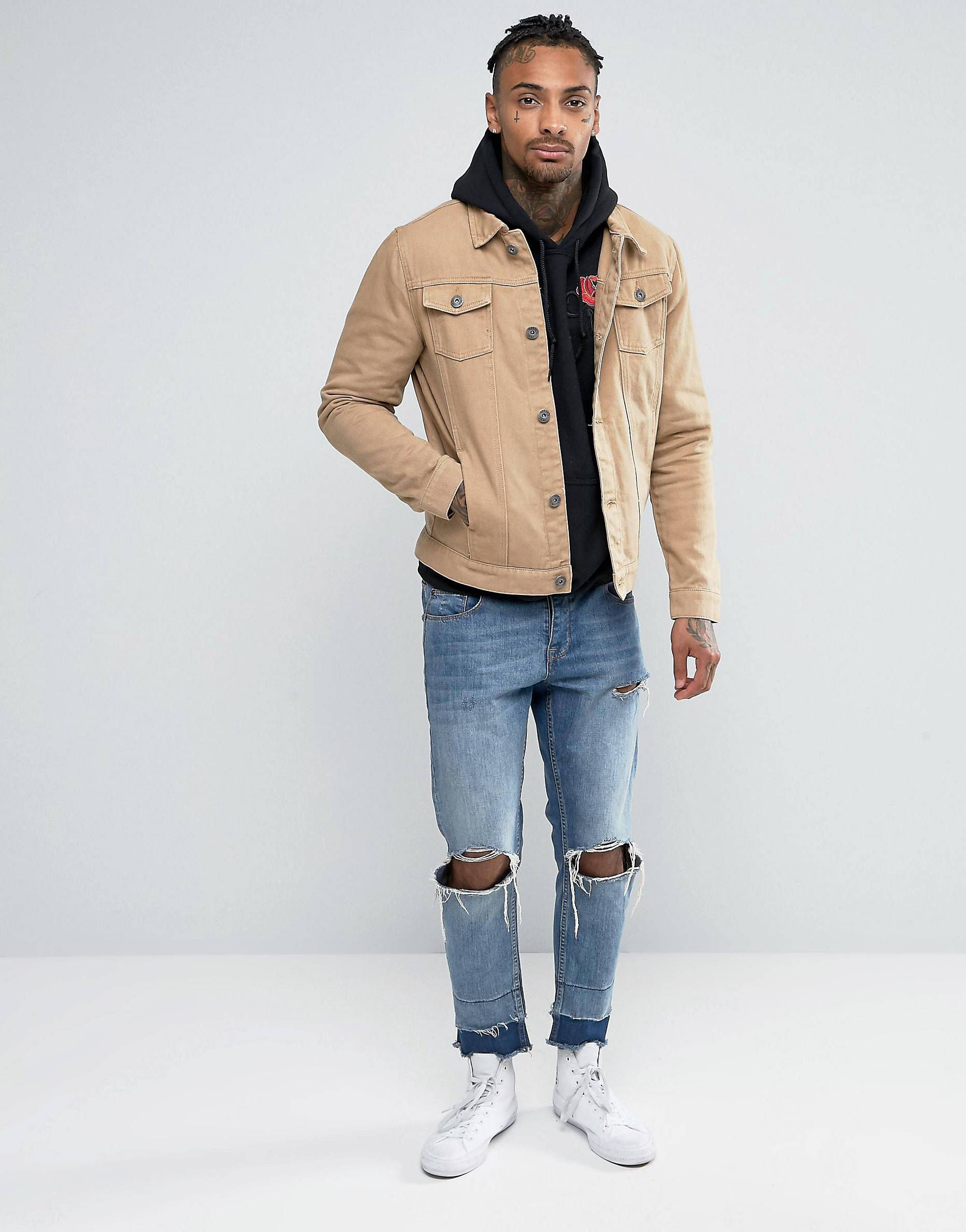 Just When I Thought I Didn T Need Something New From Asos I Kinda Do Tan Denim Jacket Tan Jacket Outfit Mens Tan Jacket [ 2377 x 1863 Pixel ]