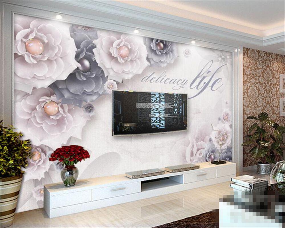 Beibehang Custom Wallpaper 3d Wallpapers Flowers Large Fr