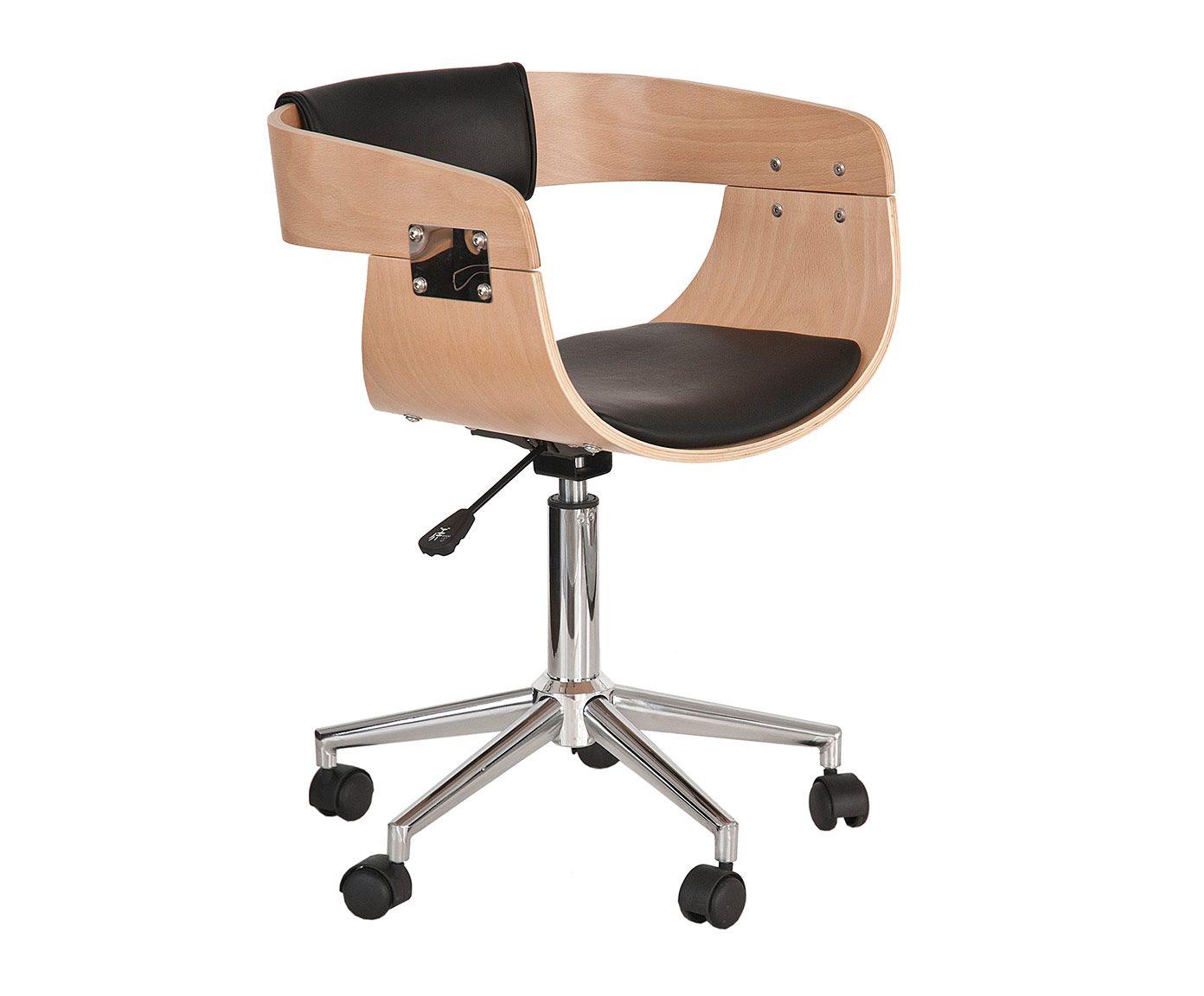 Silla de oficina con ruedas natural y negro westwing home living dise o design - Westwing sillas ...