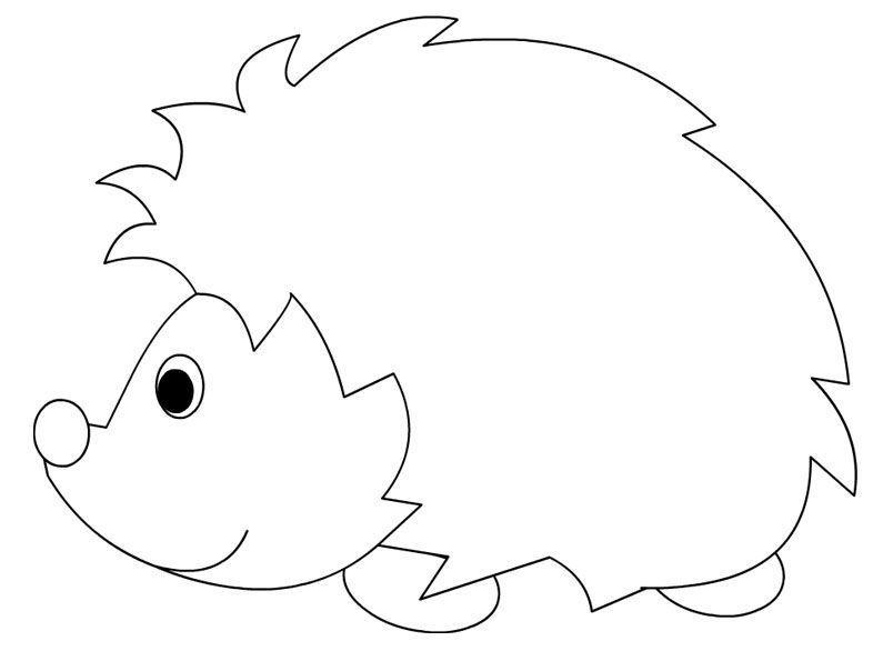 Hedgehog Coloring Pages Igel Ausmalbild Basteln Mit Kindern Herbst Ausmalbild Hase