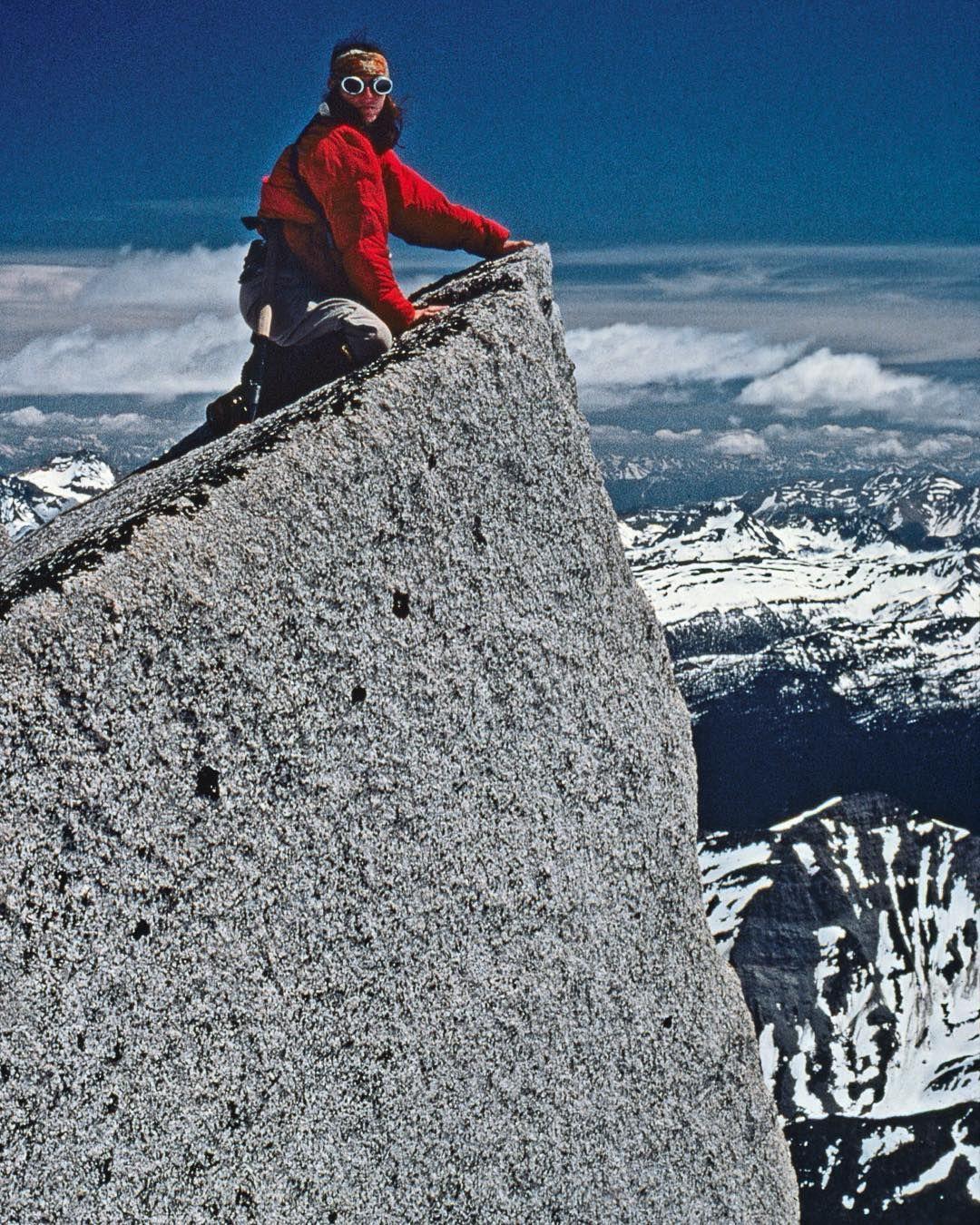 Update from Jon Krakauer: Pam Brown's first summit. Bugaboo Range 1978 #favouriteauthor #jonkrakauer #intothewild