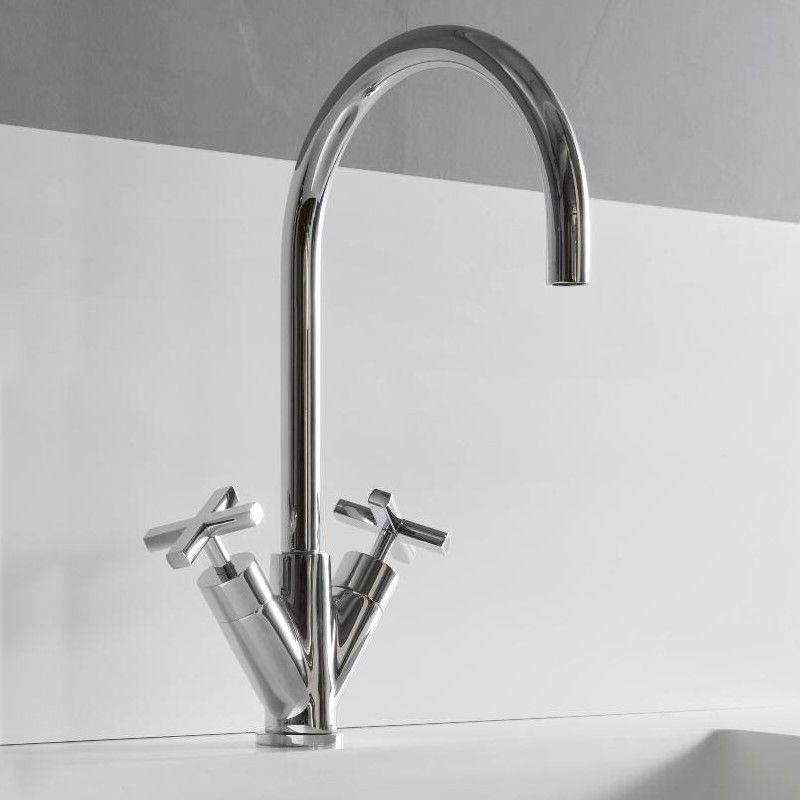 Treemme Küchenarmatur Line chrom schwenkbarer Auslauf - küchenarmaturen niederdruck mit brause